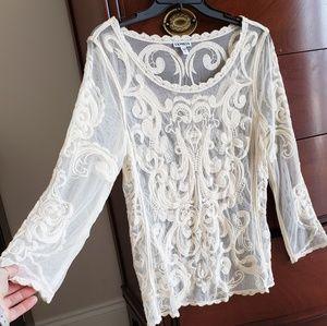 Express Boho crochet/lace top